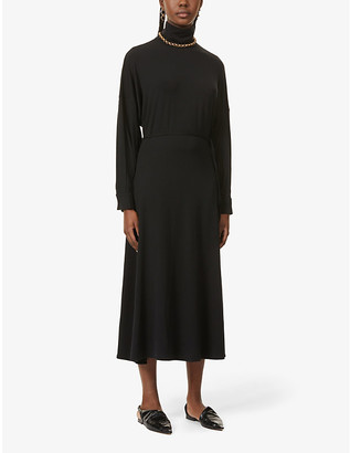 BITE Studios Funnel-neck stretch-woven midi dress