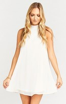 MUMU V-Right Back Mini Dress ~ Sparkle & Shine Ivory