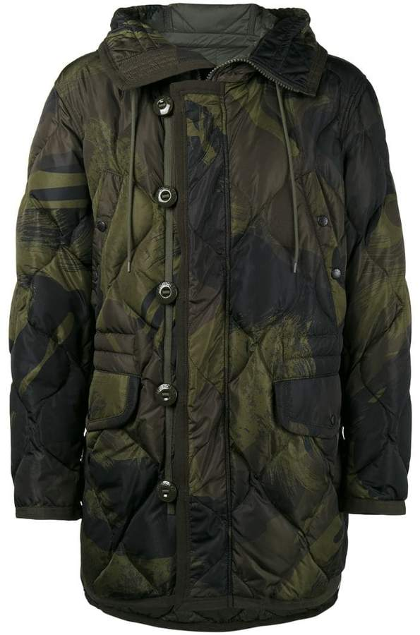 Moncler Gaillon feather down camouflage jacket