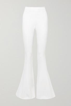 Cushnie Stretch-crepe Flared Pants - White