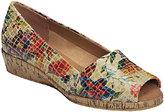 Aerosoles Sprig Break Leather Peep Toe Wedge Slip-on Shoes