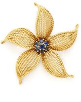 Tiffany & Co. Gold & Sapphire Flower Brooch