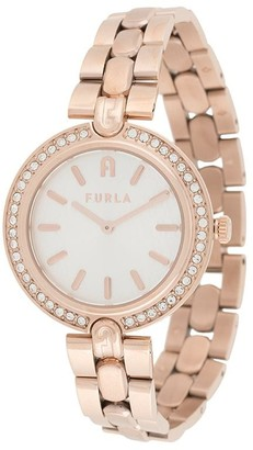 Furla Milano crystal round watch