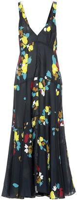 Lee Mathews Maeve floral silk maxi dress