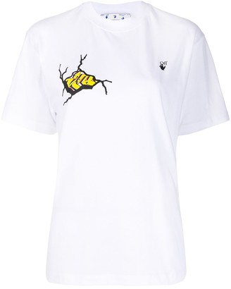 Off-White cracked graffiti T-shirt