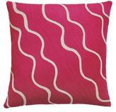 Judy Ross Textiles Parade Cream/Cerise Pillow