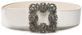 Manolo Blahnik Hangisi crystal embellished belt