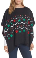 Collection XIIX Women's Christmas Lights Poncho