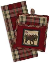 'Moose Trail Lodge' Potholder & Dish Towel