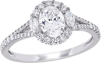 Affinity Diamond Jewelry Affinity 1.10 cttw Diamond Halo Engagement Ring, 14K