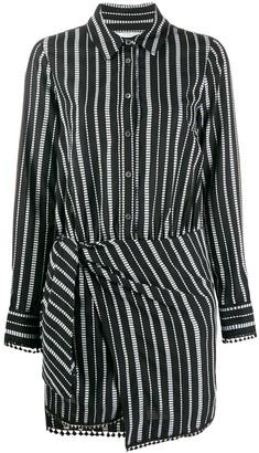 Derek Lam 10 Crosby Eunice Diamond Striped Shirt Dress