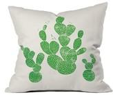 Deny Designs Green Cacti Pillow
