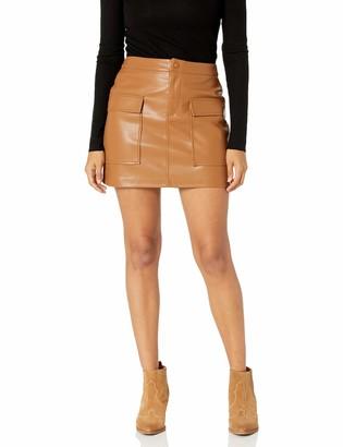 BB Dakota Women's Leather Too Late Skirt