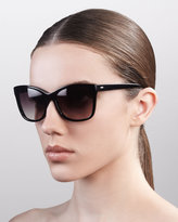 Cat-Eye Sunglasses, Dark Walnut