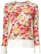 Comme des Garcons floral pattern jumper - women - Wool - M