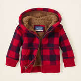 Children's Place Plaid sherpa hoodie