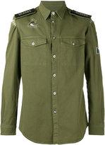 Versus patch detail shirt - men - Cotton/Spandex/Elastane/metal - 46