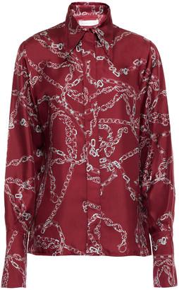 Victoria Beckham Printed Silk-twill Shirt