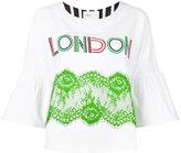 Isabelle Blanche - 'London' half sleeve sweatshirt - women - Cotton/Polyester/Spandex/Elastane - L
