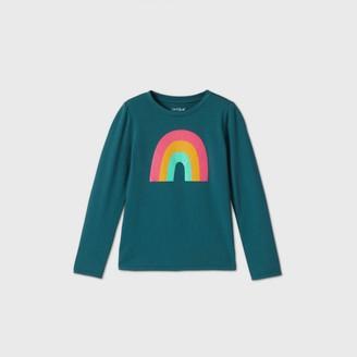 Cat & Jack Girls' Long Sleeve Rainbow Graphic T-Shirt - Cat & JackTM