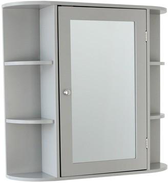 Lloyd Pascal Devonshire Mirrored Bathroom Wall Cabinet - Grey