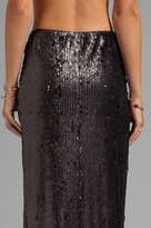 Blaque Label Sequins High Slit Maxi Skirt