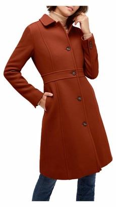 J.Crew Women's Lady Day Coat in Italian Double-Cloth Wool