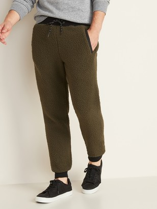 Old Navy Rib-Knit Waist Sherpa Joggers for Men