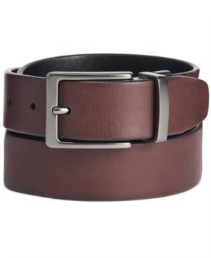 Original Penguin Men's Antique-Look Reversible Belt