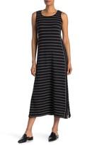 Max Studio Sleeveless Stripe Print Maxi Dress