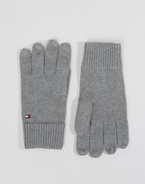 Tommy Hilfiger Cashmere Mix Gloves In Grey