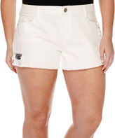 Arizona Blanco Wash Americana Shorts - Juniors Plus