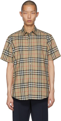 Burberry Beige Check Caxton Shirt