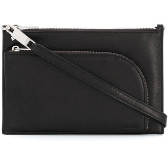 Rick Owens Top-Zip Leather Shoulder Bag