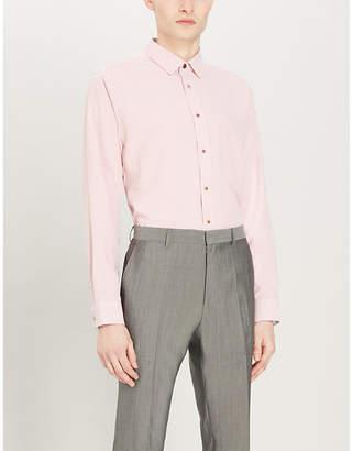 Ted Baker HIENATT geometric-patterned regular-fit cotton shirt