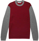McQ by Alexander McQueen Slim-Fit Striped Merino Wool Sweater