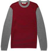McQ Slim-Fit Striped Merino Wool Sweater