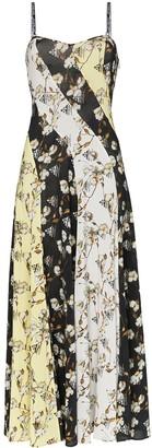 Off-White Floral Print Side Split Dress