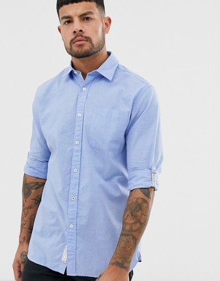 Jack and Jones long sleeve slim fit shirt in vintage indigo-Blue
