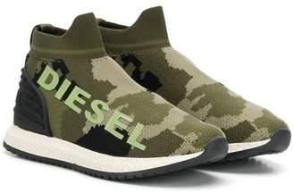 Diesel camouflage print sneakers
