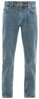 Burberry - Straight Leg Distressed Washed Jeans - Mens - Blue