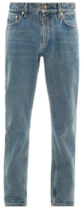 Burberry Straight-leg Distressed Washed Jeans - Mens - Blue
