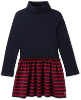 Petit Bateau Girls roll neck dress