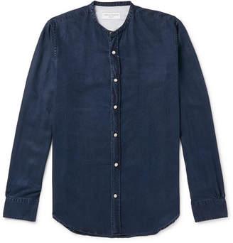 Officine Generale Grandad-Collar Lyocell Shirt