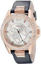 Fossil Women's ES3887 Analog Display Analog Quartz Blue Watch