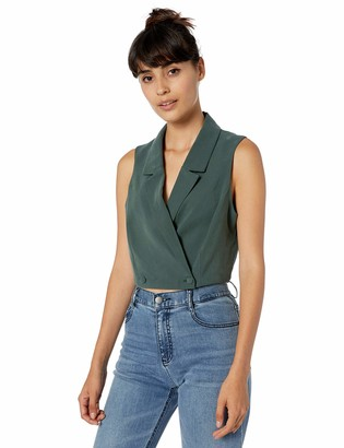 BCBGeneration Women's Cropped Double-Breasted Vest