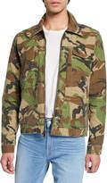 Hudson Men's Camo Twill Zip-Front Jacket