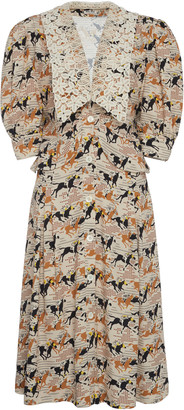 Miu Miu Printed Collared Dress