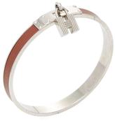Hermes Vintage Brown & Silver Kelly Lock Bracelet