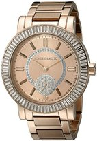 Vince Camuto Women's VC/5198LRLR Swarovski-Accented Rose Gold-Tone Watch with Link Bracelet